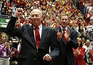 Former Iowa State Cyclones men's basketball coach Johnny Orr