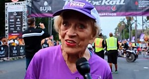91-year-old Harriette Thompson set two marathon records