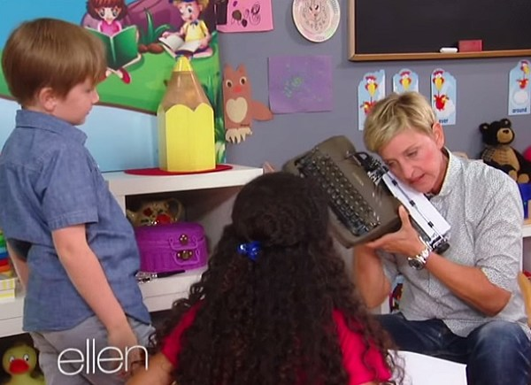 [Video] Ellen Introduces Old Technology To The New Generation