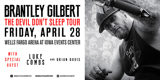 Brantley Gilbert at Wells Fargo Arena