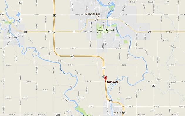 2600 block of Highway 218, Waverly, IA (Google Maps)